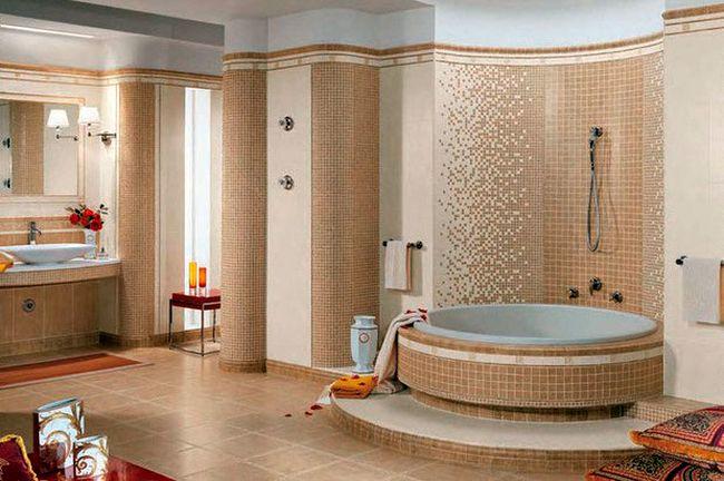 Классическая плитка в интерьере ванной