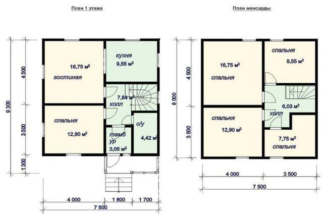 Проект дома на 2 єтажа