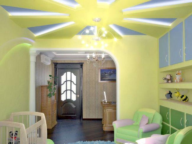 потолок с солнцем