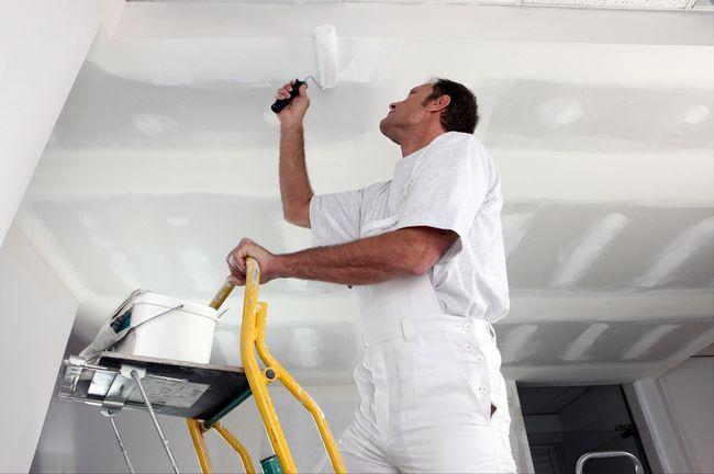 ремонт и покраска потолка