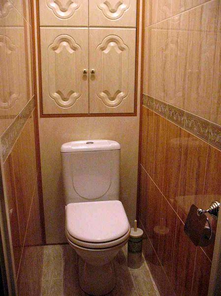 Фото фальш-стены в туалете