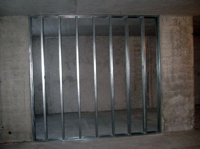 Каркас перегородки без дверного проема