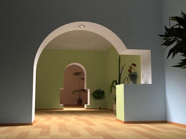 Межкомнатная арка из гипсокартона1