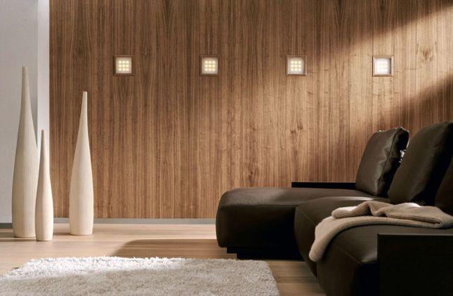 Отделка стен внутри дома при помощи декоративных панелей