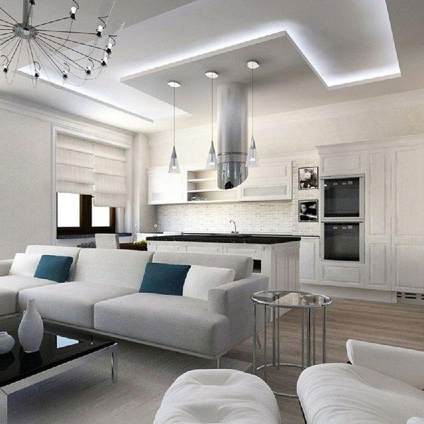 Потолок для гостиной в стиле лофт