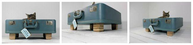 чемодан-кровать для кошки