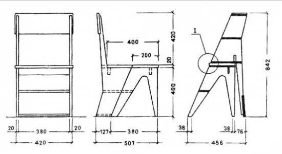 Складной стул стремянка