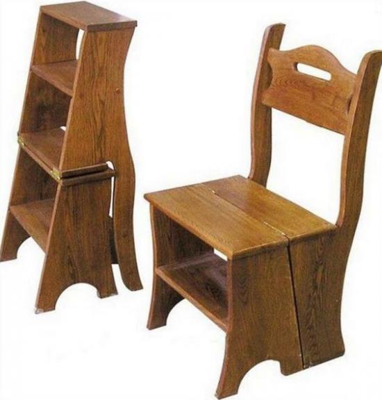 стул стремянка из дерева